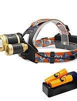 U'King® ZQ-G808D-Gold-EU 3 * CREE XML-T6 6000LM 4Mode Zoomable Headlamp Kit with 2*18650 Battery and Charger