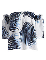 Women's Going out Simple Spring Summer T-shirt,Print Boat Neck Short Sleeve Cotton