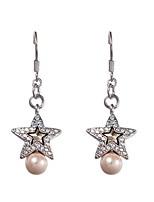 Boucles d'oreille goutte Cristal Perle Cristal Mode A Motifs Bijoux Quotidien Décontracté 1 paire