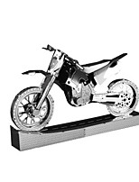 3D Puzzles Metal Puzzles For Gift  Building Blocks Model & Building Toy Motorcycle Metal 14 Years & Up Silver Toys