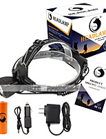 U'King® ZQ-X831B#1-US Waterproof 2000LM CREE XML-T6 LED 3 Modes Headlamp Bike Light Kit USB Rechargeable