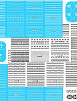 1set 48pcs Adesivos para Manicure Artística Decalques de transferência de água maquiagem Cosméticos Designs para Manicure