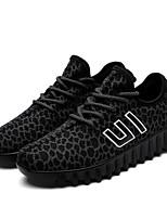 Черный Коричневый Красный Черно-белый-Для мужчин-Для прогулок Для занятий спортом Повседневный-Ткань-На плоской подошве-Удобная обувь