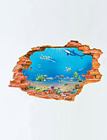 3D Wall Stickers Wall Decals Style Aquarium PVC Wall Stickers