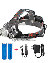 Налобные фонари LED 4000 Люмен 4.0 Режим Cree XP-G R5 Cree XM-L T6 18650 Компактный размерПоходы/туризм/спелеология Повседневное