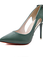 Heels Spring Club Shoes Patent Leather Dress Stiletto Heel Rhinestone