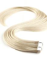 fita grau 5a 100% neitsi 16 '' trama 20pcs pele 30g em Remy extensões de cabelo humano 60 # Platinum Blonde #