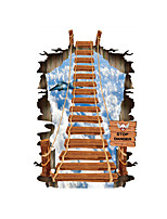 3D Wall Stickers Wall Decals Style The Sky Rope Bridge The Stairs Floor PVC Wall Stickers