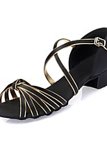 Kids' Dance Shoes Latin shoes  Satin Leatherette  Black / Gold L53