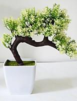 1 Ramo Poliéster Plantas Flor de Mesa Flores artificiais 22