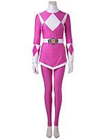Cosplay Kostüme Party Kostüme Superheld Cosplay Film Cosplay Weiß Rosa Geometrisch Top Hosen Handschuhe Gürtel Mehre AccessoiresHalloween