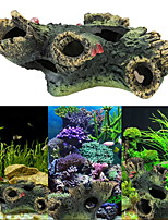 Aquarium Decoration Wood Resin Black