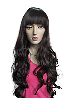 Deep Wavy Synthetic Fiber Wig Capless Heat Cosplay Costume Hairstyle With Cap