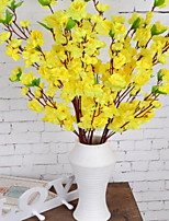 1 Branch Plastic Others Tabletop Flower Artificial Flowers Peach Branches
