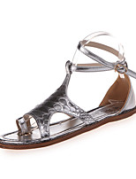 Sandals Spring Comfort PU Casual Flat Heel Others White Silver Gold