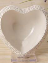 1 Pcs Ceramic Dining Bowl Dinnerware Peach Heart Bowl