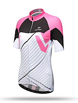XINTOWN Women's Men's Unisex Short Sleeve Bike Breathable Quick Dry Back Pocket Sweat-wicking Comfortable Tops TeryleneSpring Summer