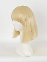 Good Quality Blonde Synthetic Wigs Cheap Blonde Color Straight Women Sexy Wigs