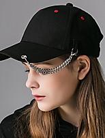Unisex Cotton circular Ring Chain Decorative Dot Print Baseball Cap Street Hip Hop Baseball Hat