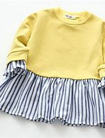 Girl's Striped Dress,Cotton Spring Fall Long Sleeve
