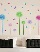Cartoon Colorful Flower Ball Wall Sticker Vinyl Material Home Decoration