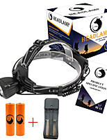 U'King® ZQ-X831B#3-US Waterproof 2000LM CREE XML-T6 LED 3 Modes Headlamp Bike Light Kit USB Rechargeable