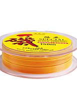 150M / 165 Yards Monofilamento Linhas de Pesca Amarelo 80LB 1.5 mm Para Pesca Geral