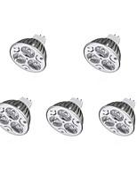3W Spot LED MR16 3 300-400 lm Blanc Chaud Blanc Froid DC 12 V 5 pièces
