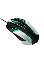 VMO-186  Fashion Cool 7 Color Professional Wired USB Gaming  Mouse 3D 3200PDI Computer Peripherals