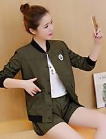 Sign 2017 Spring and Autumn new Women Korean baseball uniform jacket sleeve shorts