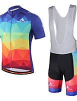 Miloto Cyklodres a kraťasy se šlemi Unisex Krátké rukávy Jezdit na kole Cyklistické šortky Dres Kraťasy podšité Náprsníkové punčocháče