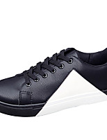 Men's Sneakers Spring Summer Fall Comfort Leather Outdoor Casual Flat Heel Lace-up BlackWhite