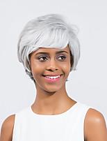 Refreshing High quality Elegant Comfortable Gray se Short Hair Synthetic Wig