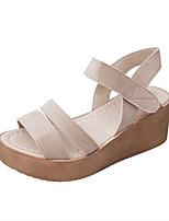 Sandals Spring Summer Fall Comfort Fabric Dress Casual Flat Heel Chunky Heel Black Khaki