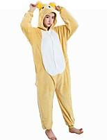 kigurumi Pyjamas Ours Collant/Combinaison Fête / Célébration Pyjamas Animale Halloween Jaune Motif Animal Costumes de Cosplay Pour