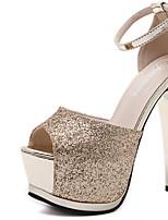 Серебристый ЗолотистыйДля праздника-Ткань-На шпильке-клуб Обувь-Обувь на каблуках