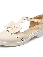 Women's Sandals Spring Summer Fall PU Office & Career Dress Casual Flat Heel Bowknot Beige Blushing Pink