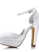 Heels Spring Summer Fall Comfort Fabric Wedding Party & Evening Dress Chunky Heel