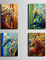 E-HOME Oil painting Modern Abstract colored Horse Series 7 Pure Hand Draw Frameless Decorative Painting