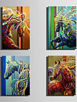 Handgemalte Abstrakt Tier Vertikal,Europäischer Stil Modern Ein Panel Leinwand Hang-Ölgemälde For Haus Dekoration