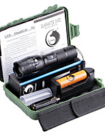 U'King ZQ-X1077G-EU G7000 5Modes Zoomable Multifunction Flashlight Torch Kit Green Light