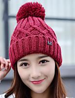 dámské vlněné jednobarevná zimní a kašmír m jednoduché vlněné pletené teplé čepice