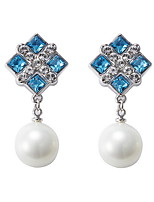Drop Earrings Crystal Pearl Crystal Dark Blue Jewelry Daily Casual 1 pair