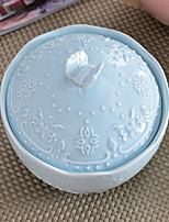 1 Pcs Porcelain Dining Bowl Dinnerware with Cover