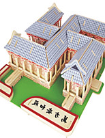 Jigsaw Puzzles DIY KIT Building Blocks 3D Puzzles Educational  Wooden Wanfang Anhe Temple Puzzles Building Blocks DIY Toys Square Famous
