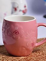 Классика Минимализм Вечеринка Стаканы, 400 ml Украшение Керамика Телесный Молоко Каждодневные чашки / стаканы