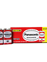 Panasonic 6F22ND 9V Carbon Zinc Battery 10 Pack