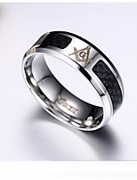 Ring Titanium Steel Fashion Personalized Simple Style Black Blue Jewelry Daily Casual Sports 1pc