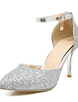 Heels Spring Summer Fall Winter Club Shoes Synthetic Wedding Party & Evening Dress Stiletto Heel Sequin Pink Silver Gold