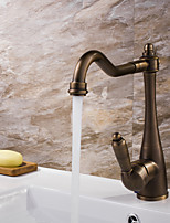 Antique Centerset Widespread with  Ceramic Valve Single Handle One Hole for  Antique Copper , Bathroom Sink Faucet
